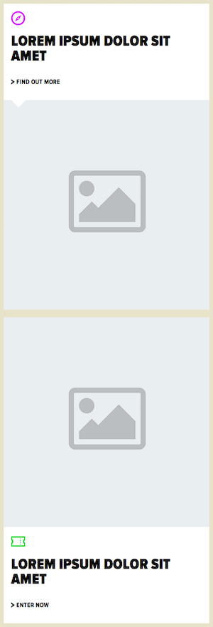 Mobile view of the layout (before Flexbox)